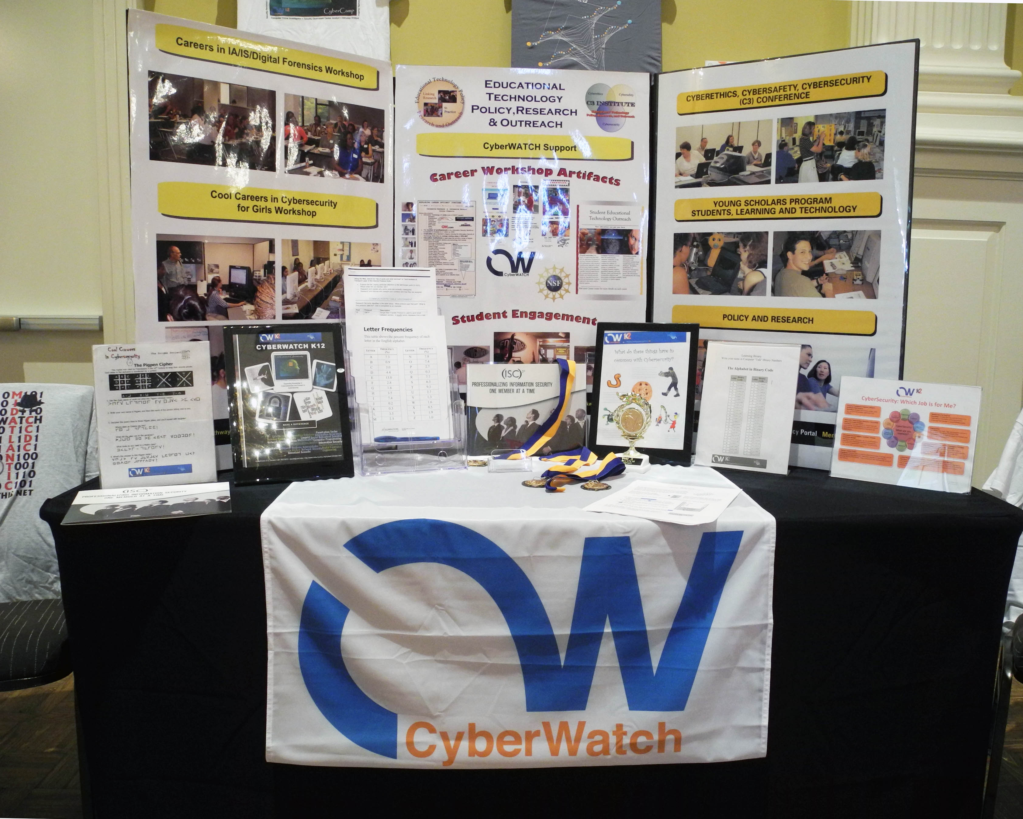 Career Fairs And Presentations K Cyber Security Education ThinkTank - Conference table displays